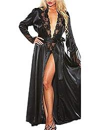 Kimono Batas Mujer, ❤ Modaworld Vestido de Kimono de Seda Larga de Seda Sexy