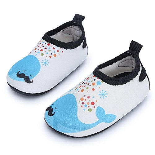 JIASUQI Baby Athletische Turnschuh Wasser Haut Beschuht Socken für Strand Fluss Bootfahrt, Beige Dophin 18-24 Monate (Herstellergröße : 21/22) -