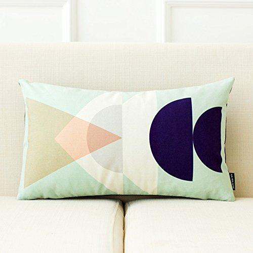 GJM Shop U Coussin en coton multifonctionnel --- Simplicité moderne Coussins de canapé 100% polyester Porte-oreiller oreiller Creative --- Protection - couverture de coussin pliable de ( taille : 30*50cm-5 )