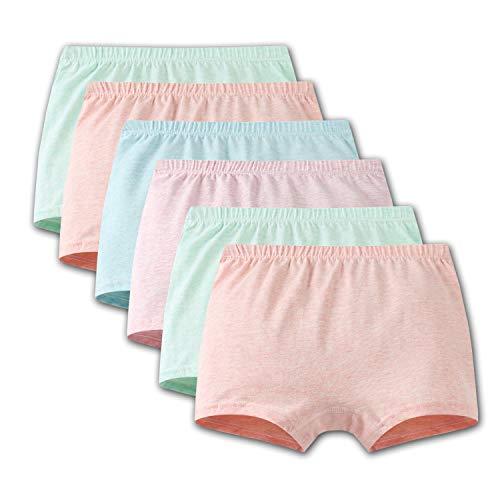 iVENUS 6 Paar Mädchen Kinder Unterwäsche Boyshort Elastische Unterhose Baumwolle Baby Mädchen Knickers Kleinkind Mädchen Höschen (XL(7-9Jahre alt), Mehrfarbig)