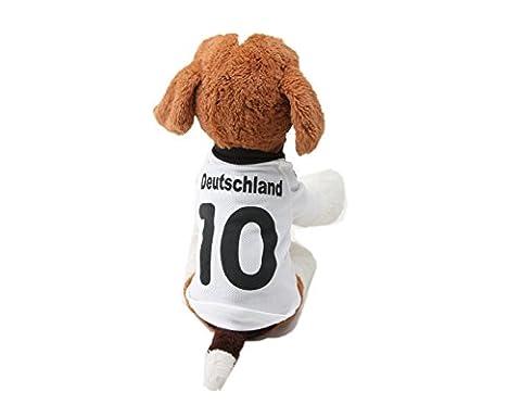 ELE GENS Hund Katze Huastier T Shirt Hoodies Sweatshirts Jacke Mantel Hundemantel Hundekleidung Sport Fußball Kleidung Kostüm für Kleine Hunde (S, #A (Kleiner Hund Kostüme)