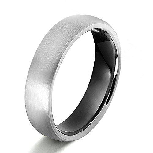 Gemini Damen-Ring Titan , Herren-Ring Titan , Freundschaftsringe , Hochzeitsringe , Eheringe, Mattiert rund Breite 7mm Größe 54 – 76
