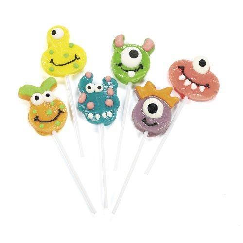 cama24com Halloween lustige Monster Lolly in 6 Motiven 12 Stück