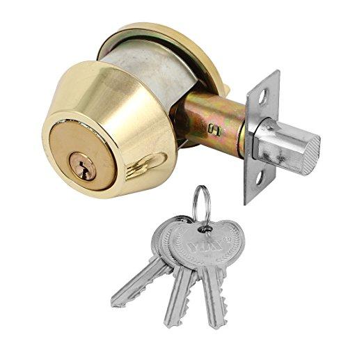 sourcingmap Tono del dormitorio del hogar Puertas solo cilindro cerroj