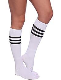 Damen Maedchen Fussball Stutzen SportSocken Sport Socken Strumpf Stutzenstruempfe Fussballstutzen Sportstruempfe