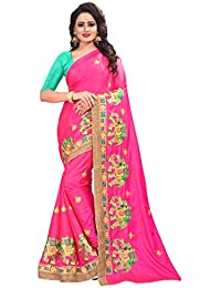 Saree Women's Paper Silk Heavy Cut Work Designer Saree With Blouse Piece