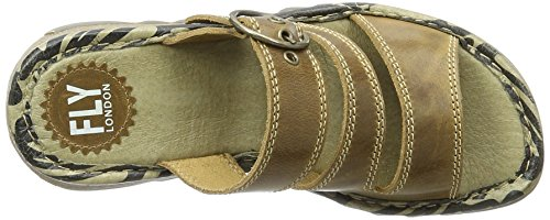 FLY London Damen Thea724fly Sandalen Braun (camel 002)