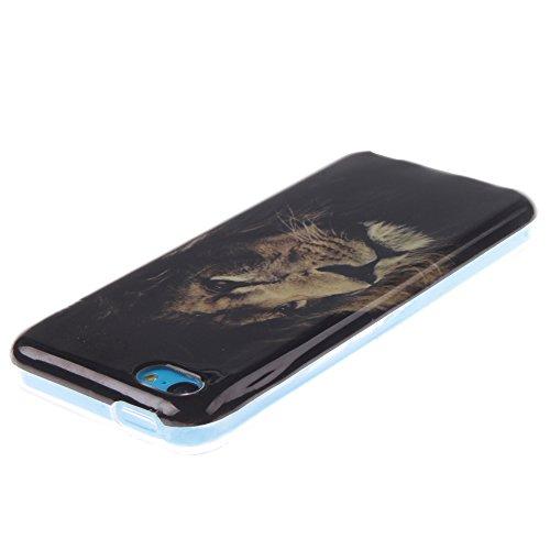 iPhone 5C hülle MCHSHOP Ultra Slim Skin Gel TPU hülle weiche Silicone Silikon Schutzhülle Case für iPhone 5C - 1 Kostenlose Stylus (sexl mädchen mit einer hübschen hintern (Sexl girl with a nice butt) der könig der löwen (The Lion King)