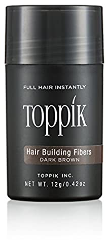 TOPPIK Hair Building Fibers, Dark Brown 12 g