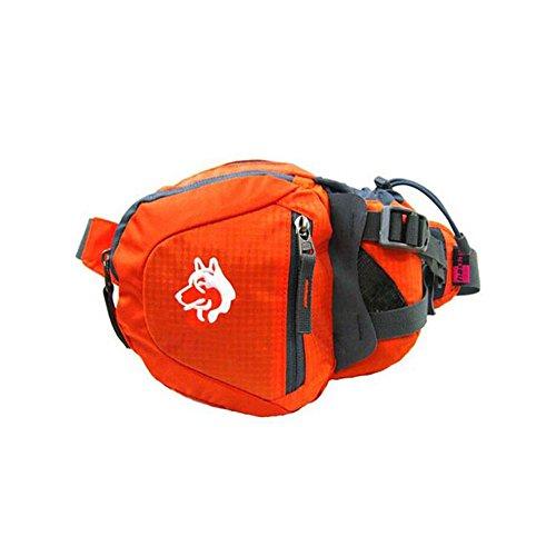 Asdomo escursionismo marsupio marsupio cintura da corsa astuccio da viaggio jogging cerniera marsupio o corsa viaggiare in bicicletta escursionismo campeggio e passeggiate con il cane, Orange Orange