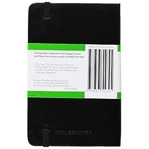 Moleskine City Notebook FRANCFORT Couverture rigide noire 9 x 14 cm