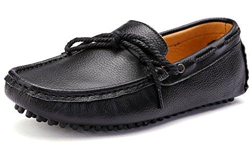 on Holgazán Del De Odema Zapatos Slip De Mocasines Negro Hombre Conducción B005q7w