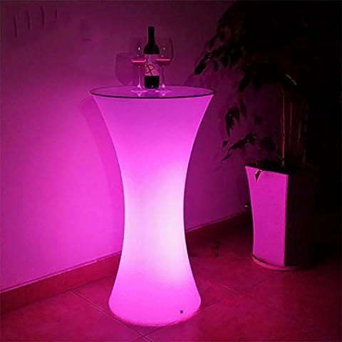 Xinye Table ronde LED à changement de couleur Plastique étanche pour barre de fête avec télécommande
