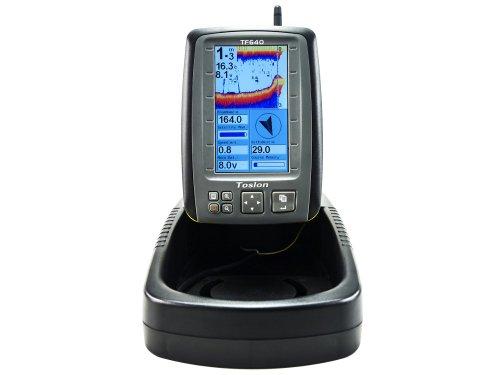 Farb-fishfinder (Carp Madness Farb Echolot GPS Kompass Futterboot Fishfinder Funkecholot Kombigerät Baitboat Toslon 640)
