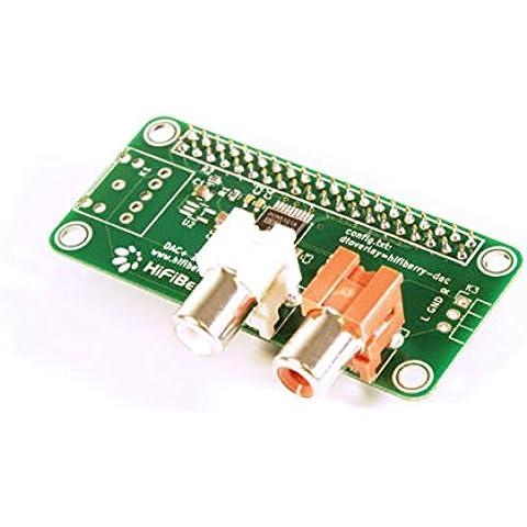 Alta fidelidad Berry DAC + Light - tarjeta de sonido para Raspberry Pi 2 modelo B/B + / A + con RCA