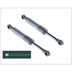 Lot de 2 amortisseurs à gaz d'origine Lift-o-Mat 250 N - ressort à gaz/ressort de compression pour raccords Kesseböhmer (référence: 0013379006)