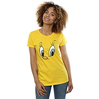 Looney Tunes Damen Tweety Pie Face T-Shirt Large Gänseblümchen