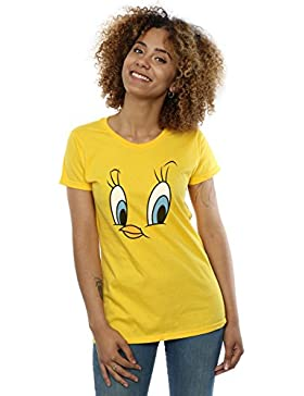 Looney Tunes Mujer Tweety Pie Face Camiseta