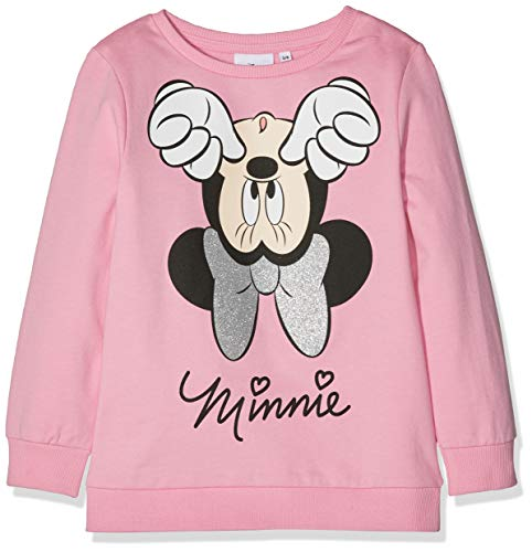 Disney Minnie Mouse Mädchen Sweatshirt Upside Down Minnie Mouse, Pink, 5-6 Jahre