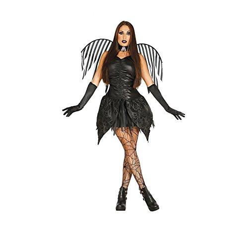 Kostüm Schwarze Fee Alle - Dunkle Fee Halloween Kostüm für Damen Feen schwarzer Vampir Engel Damenkostüm Gr. S-M, Größe:S