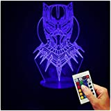 The Avengers Lampe Décoratives Black Panther Buste (Illusion D'Hologramme 3D)