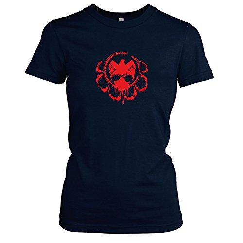 TEXLAB - Hail the Division - Damen T-Shirt Dunkelblau