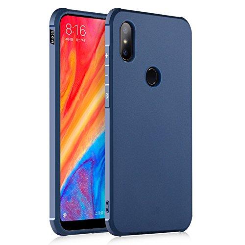 SPAK Xiaomi Mi Mix 2S Hülle,Echte Qualität TPU Ultra Dünne Schutzhülle Silikon Shockproof Abdeckung Case Cover für Xiaomi Mi Mix 2S (Blau)