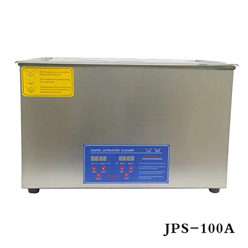 Hot Dental Stainless Steel 30L Liter Industry Heated Digital Ultrasonic  Cleaner Heater Timer with Basket JPS-100A