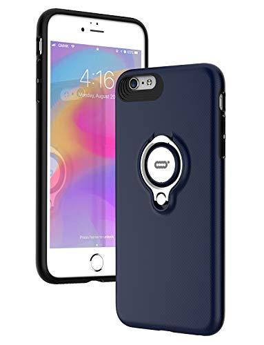 ICONFLANG iPhone 6 Plus / 6s Plus Hülle mit Ring Ständer, 360 Grad drehbarer Ring Grip Case für iPhone 6s Plus Dual Layer Stoßfest Schlagschutz for iPhone 6s Plus,Kompatibel mit Magnetic Car Mount