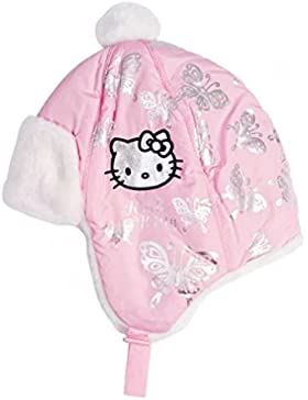 Berretto Cappello Bambino Ragazza Hello Kitty ROSA E BIANCO di 3a 9anni