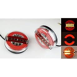 2x 42LED neon Rear stop luci di coda 12V 24V combinazione rotondo E-mark lampade con dinamica indicatore camion caravan Chassis Bus camper
