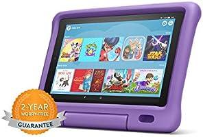 """Fire HD 10 Kids Edition Tablet   10.1"""" 1080p Full HD Display, 32 GB, Purple Kid-Proof Case"""