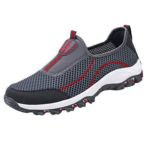 Fenverk Herren Damen Sportschuhe Laufschuhe Bequem Atmungsaktives Turnschuhe Sneakers Gym Fitness Leichte Schuhe Air Atmungsaktiv SchnüRer StoßFest Mode Outdoor Athletisch Sneaker(Dark Gray,39 EU)