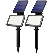 Lampada Solare 2 Pack OMorc Esterna Impermeabile Illuminazione Giardino Luci Solari IP65 con 48 LED per Giardino, Sentiero, Prato, Casa, Cortile, ecc