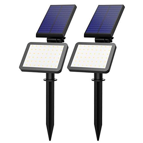 500 Lumen Solarleuchten, VicTsing super helle 48 LED Garten Solarlampe, IP65 Wasserdichte Solar Betriebene Wandleuchte Außenleuchte mit 5 Modi Sicherheit Licht
