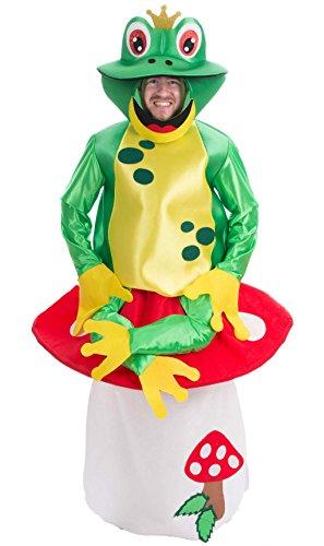 Imagen de disfraz de rana sobre seta adulto u