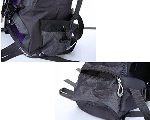 niceEshop(TM) 36-55L Wasserdicht Interne Rahmen Rucksack Daypack Wanderrucksack für Männer und Frauen Kartause Rucksack