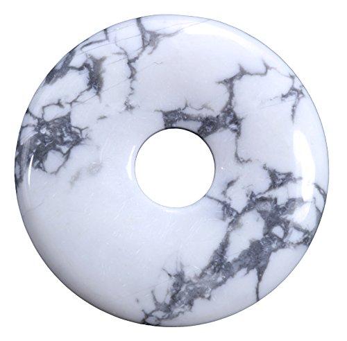 Magnesit Edelstein Donut Ø 30 mm Anhänger