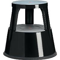 TWINCO M563001 - Taburete rodante de 2 peldaños, color negro