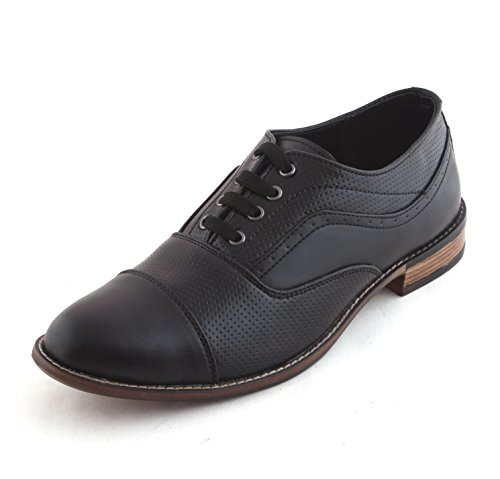 ALBERTIANO OXFORD FAUX LEATHER , LACE UP , DERBY , OFFICE WEAR , PARTY , FORMAL SHOES FOR MEN (black Color)