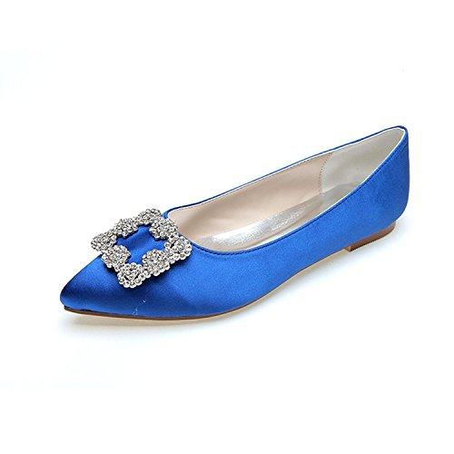 L@YC Donna Scarpe Da Sposa Heel Fine Punta a Topo Pompa / Tacchi alti Sera Di Nozze E Più Colori Disponibili Blue
