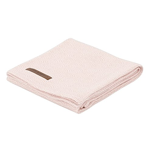 LITTLE DUTCH 3736 Muslin Swaddle Tuch / Pucktuch - waves pink Gr. 120x120 cm