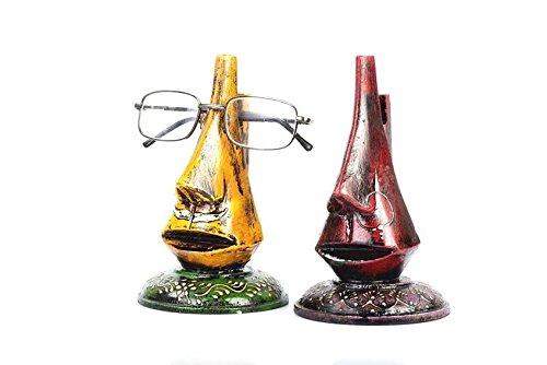Purpledip Brillenhalter aus Holz, bemalt, 1 Paar, 15,2 cm hoch, Geschenk für Großeltern (spec2)
