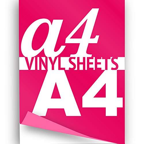 A4Neon Pink 297x 210mm 3x Flex Eisen auf Transfer Papier Kleidung Vinyl (Eisen-transfers)