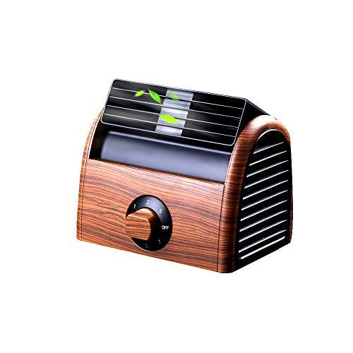 Timer-gas-bereich (NCBH Mini-Klimaanlagenlüfter - ohne Lüfter, Schreibtischlüfter, Retro-Klimaanlage für das Büro zu Hause, Timer 3-stufiger AC 220V-Lüfter,Brown)