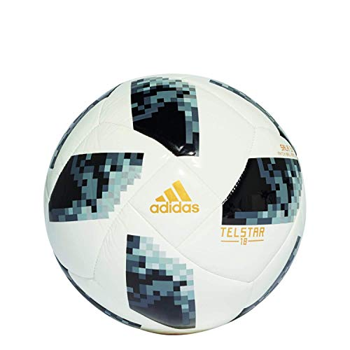 adidas Herren World Cup Ball, White/Black/Silver Metallic, Futsal