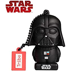 Chiavetta USB 32 GB Darth Vader (Lord Fenner) - Memoria Flash Drive Originale Disney Star Wars, Idea Regalo e Gadget Portachiavi da Collezione TRIBE - Colore: Nero