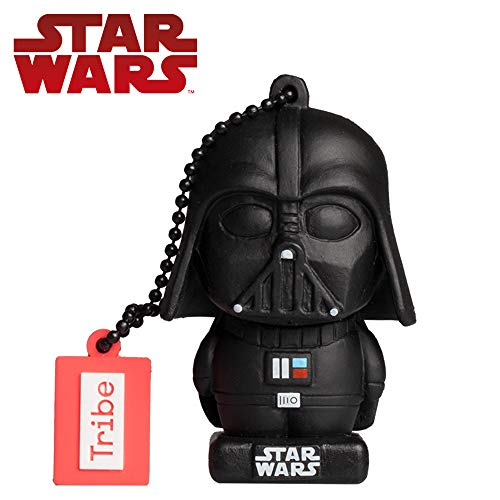 Tribe Star Wars 8 Pendrive - Memoria USB Flash Drive 2.0, de Goma, de 16 GB con Llavero, diseño Darth Vader