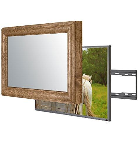 Handgemacht Eingerahmter Spiegel TV mit LG 32LH604V um diesen versteckt Verspiegelten Fernseher in Ihrem Zuhause oder Ihrer Business Ausstattung zu integrieren (32 Zoll, La Classico Braun)