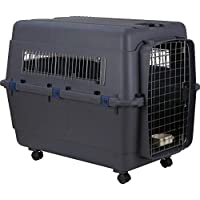 PSK PET MART Iata Approved Plastic Paws for A Cause Flight Cage with Wheels (Black, 36-Inch)